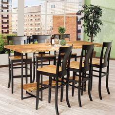 From kitchen to entertainment areas, our made-to-order Travilah Live Edge Bar Set can be incorporated into styles ranging from contemporary to rustic. Dining Room Furniture Sets, Live Edge Furniture, Amish Furniture, Dining Room Sets, Custom Furniture, Outdoor Furniture Sets, Oak Dining Table, Modern Dining Chairs, Wood Table