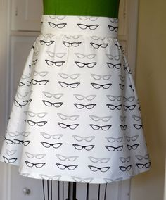 Cat Eye Glasses skirt ! Optometry lovers unite!