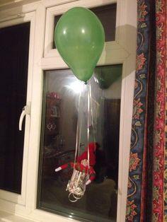Elf on the shelf- hot air ballon ride