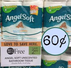 Angel Soft Toilet Paper – Four Double Rolls Just 60¢ At Publix!