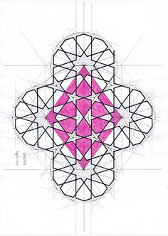 Pattern Ideas, Pattern Art, Pattern Design, Geometry Art, Sacred Geometry, Arabesque, Motifs Islamiques, Mandala, Islamic Art Pattern