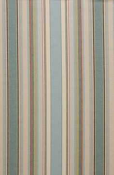 French Stripe Blue is a weighty cotton fabric, looks gorgeous in a Roman Blind, £18 per metre