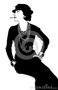 Illustration about Coco Chanel vector stylization. Black and white. Illustration of figure, black, fashion - 136574902 Image Stock, White Image, Coco Chanel, Black And White, Book, Illustration, Fashion Design, Style, Swag