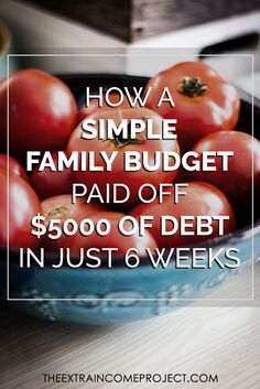 How A Simple Family Budget Paid Off $5000 In Just 6 Weeks #debt #budget #familybudget #debtfree #frugal