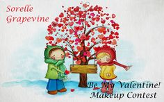 Be my valentine! Makeup contest on Sorelle Grapevine blog. Prizes from Inglot