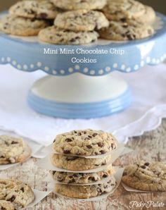 Mini Mint Chocolate Chip Cookies