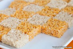 #Tennessee #Vols rice krispy tailgate treats. How cute are these?