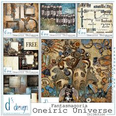 """<p style=""""text-align: center;""""> <span style=""""font-size: 16px;"""">Steampunk Collection """"Oneiric Universe"""" by Doudou's Design</span></p>"""