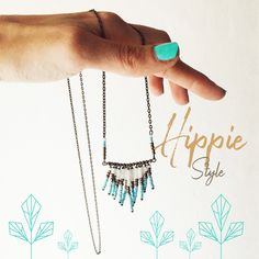 hippie style necklace ebbijoux