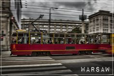 Postcards from Poland: Warsaw Tram Warsaw Guide, Places In Europe, Poland, Postcards, Travel Photography, Warsaw, Greeting Card, Travel Photos