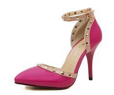 Womens Trendy Edgy Studded Heels