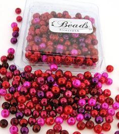 Beads Direct USA's Glass Pearls Mix 200pcs Round 4mm - Valentine's Mix. $2.25