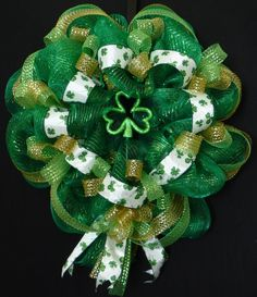 St. Patty's Day Deco Mesh Wreath