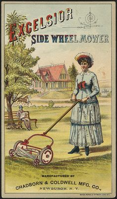 Excelsior Side Wheel Mower, trade card