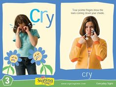 Sign of the Week - Cry | Signing Time Flash Cards