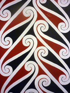 Maori pattern, Akaroa Museum, New Zealand South Island