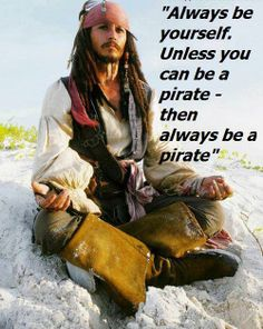 My favourite actor of all time: Johnny Depp as Captain Jack Sparrow in Pirates of the Caribbean.St Sense of Humor Matthew Fox, Captain Jack Sparrow, Johnny Depp Frases, Jack Sparrow Quotes, Pirate Life, Film Serie, Disney Quotes, Pirates Of The Caribbean, I Movie