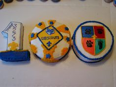blue and gold cakes - Google Search