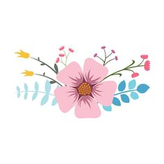 Discover thousands of Premium vectors available in AI and EPS formats Watercolor Flowers, Watercolor Art, Bg Design, Simple Artwork, Art Painting Gallery, Floral Artwork, Hand Drawn Flowers, Desenho Tattoo, Flower Doodles