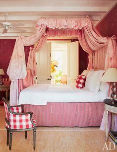 """Gustavian design guest room by John Stefanidis."""