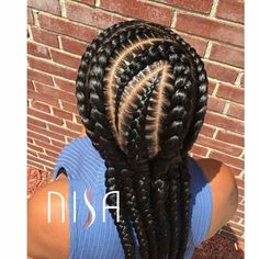 Cornrow hairstyles are a conventional manner of braiding the hair near the scalp. It is also possible to choose and produce your own innovative hairstyles. Long single braid hairstyles are created on hair a little beneath the shoulder. Single Braids Hairstyles, Cool Braid Hairstyles, Ethnic Hairstyles, African Braids Hairstyles, My Hairstyle, Girl Hairstyles, Black Hairstyles, Baddie Hairstyles, Unique Hairstyles