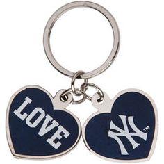 New York Yankees Love Keychain - Navy Blue