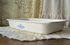 Vintage Corning Ware Baking Dish Cornflower Blue by cynthiasattic, $25.00