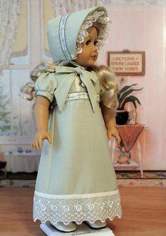 Regency Dress and Bonnet for Caroline by BabiesArtUs on Etsy, $75.00