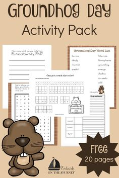 Your kids will enjoy completing these Groundhog Day activities during your winter homeschooling!   embarkonthejourney.com
