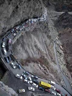 Hmmmm... not high on my travel destination list-one of the most dangerous roads in Kabul.!!
