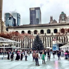 Ice skating in Bryant Park, NYC