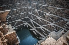 Chand Baori, India: One of the biggest stairwells in the world.