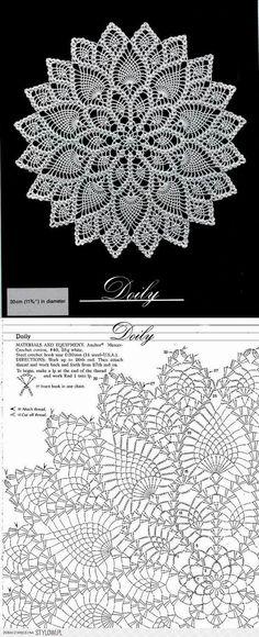 Crochet Chart, Crochet Doily Diagram, Irish Crochet, Crochet Round, Fleur Crochet, Crochet Home, Love Crochet, Crochet Designs, Doilies Crochet