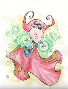 Baby Doctor Strange by Skottie Young