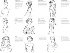 Hairdos to match dress neckline; http://www.youandyourwedding.co.uk/dresses-and-style/hairstyles/a-perfect-match-divine-dos-to-rock-your-look/18298.html?index=8
