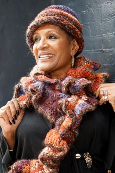 Fiery Hat and Ruffled Scarf Set by Ioni of Ioni's Creations. #IndieRack @IndieRackExpo https://www.etsy.com/listing/95381259/fiery-hat-and-ruffled-scarf-set?ref=shop_home_active_20