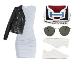 """""""Untitled #300"""" by missad3 ❤ liked on Polyvore featuring James Perse, Yves Saint Laurent, rag & bone, Ray-Ban, women's clothing, women's fashion, women, female, woman and misses"""