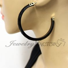 Simple Lacqured Fashion Hoop Earrings $3.99