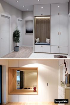 Chic Wardrobe Design Ideas For Your Small Bedroom - Wardrobe Small Bedroom Wardrobe, Bedroom Closet Design, Home Room Design, Home Interior Design, House Design, Hall Wardrobe, Kitchen Interior, Garderobe Design, Flur Design