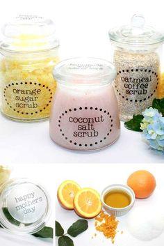 How to Make 3 Homemade DIY Body Scrub Gifts for Mother's Day, sal de epson, café, vainilla y aceite de coco.