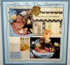 While you were sleeping - Scrapbook.com - So sweet. #scrapbooking #layouts #baby