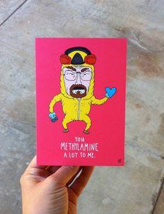 Breaking Bad Heisenberg Meth Valentine's Card