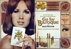 "Max Factor ""Go For Baroque"" Makeup Ad"
