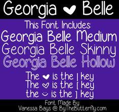 Georgia Belle Font | dafont.com