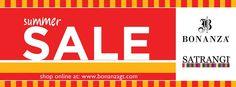 Bonanza And Satrangi Summer Sale - Flat 20% Off !!