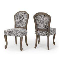 Shop for Godfrey Fabric Patterned Dining Chair (Set of 2) by Christopher Knight Home. Get free shipping at Overstock.com - Your Online Furniture Outlet Store! Get 5% in rewards with Club O!