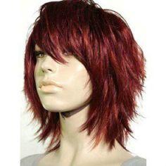 Edgy tousled layered hair