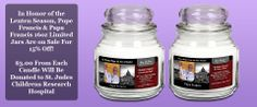 Are you interested in donating to a great organization like St. Jude's? Well Order one of these wonderful candles and three dollars of your purchase will go to them! You win, and you help them win too!