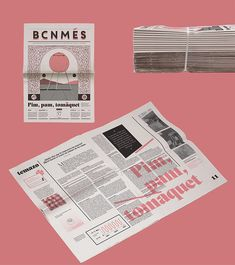 BCN Més newspaper redesign - Fun Graphics - Ideas of Fun Graphics - Graphic design for a monthly independent Barcelona newspaper based on a 3 stroke system and asymmetric distribution of space. Fun quirky and bold design just like its content. Newspaper Design Layout, Book Design Layout, Graphic Design Layouts, Graphic Design Branding, Typography Design, Design Posters, Book Layouts, Corporate Design, Brochure Design