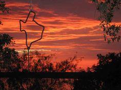Texas Dinner Bell & Sunset